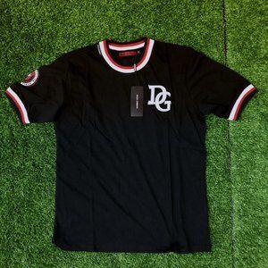 Dolce Gabbana Men Strass Logo Black T-Shirt